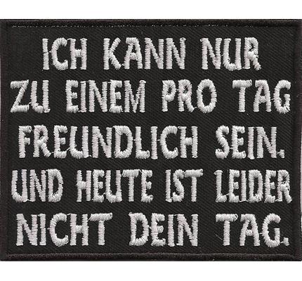 Freundlich_big_sein_rocker_kutte_biker_aufnaeher
